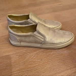 Slip on gold sneakers
